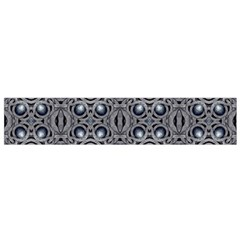 Modern Arabesque in Gray and Blue Flano Scarf (Small)