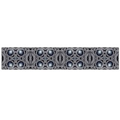 Modern Arabesque in Gray and Blue Flano Scarf (Large)