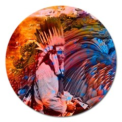 Astral Dreamtime Magnet 5  (round)
