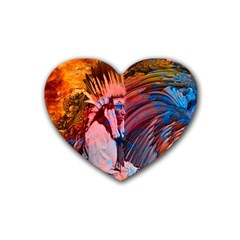 Astral Dreamtime Drink Coasters 4 Pack (heart)