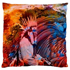 Astral Dreamtime Large Flano Cushion Case (One Side)