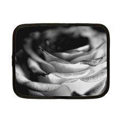 Light Black And White Rose Netbook Sleeve (small)