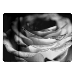 Light Black and White Rose Samsung Galaxy Tab 10.1  P7500 Flip Case