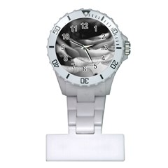 Light Black And White Rose Nurses Watch