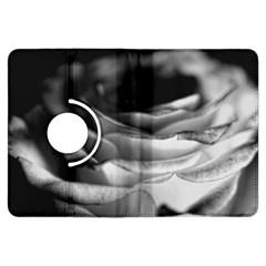 Light Black and White Rose Kindle Fire HDX Flip 360 Case