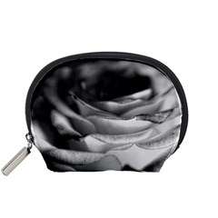 Light Black and White Rose Accessory Pouch (Small)