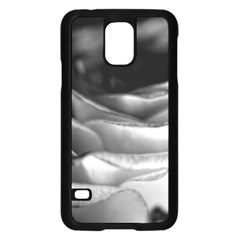 Light Black and White Rose Samsung Galaxy S5 Case (Black)
