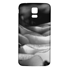 Light Black and White Rose Samsung Galaxy S5 Back Case (White)