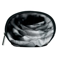 Light Black and White Rose Accessory Pouch (Medium)