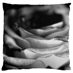 Light Black and White Rose Standard Flano Cushion Case (Two Sides)