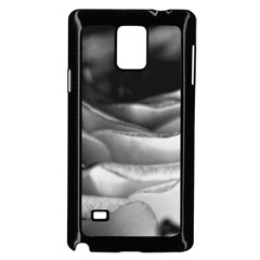 Light Black and White Rose Samsung Galaxy Note 4 Case (Black)