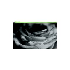 Light Black And White Rose Cosmetic Bag (xs)