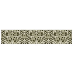 Silver Intricate Arabesque Pattern Flano Scarf (Small)