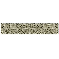 Silver Intricate Arabesque Pattern Flano Scarf (Large)