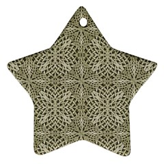 Silver Intricate Arabesque Pattern Star Ornament