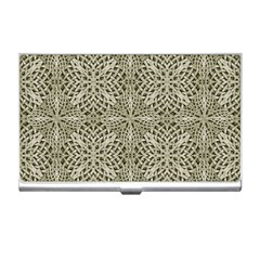 Silver Intricate Arabesque Pattern Business Card Holder