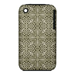 Silver Intricate Arabesque Pattern Apple iPhone 3G/3GS Hardshell Case (PC+Silicone)