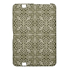 Silver Intricate Arabesque Pattern Kindle Fire HD 8.9  Hardshell Case