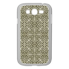 Silver Intricate Arabesque Pattern Samsung Galaxy Grand Duos I9082 Case (white)