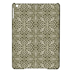 Silver Intricate Arabesque Pattern Apple iPad Air Hardshell Case