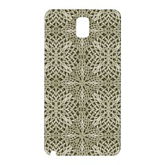 Silver Intricate Arabesque Pattern Samsung Galaxy Note 3 N9005 Hardshell Back Case