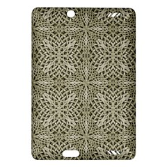 Silver Intricate Arabesque Pattern Kindle Fire Hd (2013) Hardshell Case