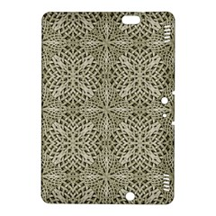 Silver Intricate Arabesque Pattern Kindle Fire HDX 8.9  Hardshell Case
