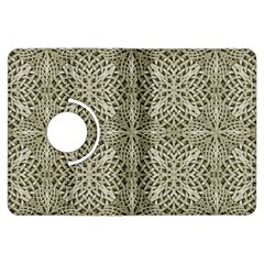 Silver Intricate Arabesque Pattern Kindle Fire HDX Flip 360 Case