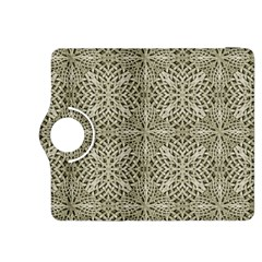 Silver Intricate Arabesque Pattern Kindle Fire Hdx 8 9  Flip 360 Case