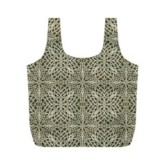 Silver Intricate Arabesque Pattern Reusable Bag (M)