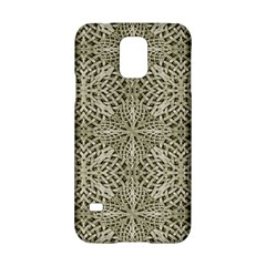 Silver Intricate Arabesque Pattern Samsung Galaxy S5 Hardshell Case