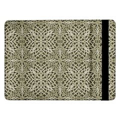 Silver Intricate Arabesque Pattern Samsung Galaxy Tab Pro 12 2  Flip Case