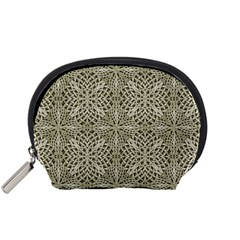 Silver Intricate Arabesque Pattern Accessory Pouch (Small)