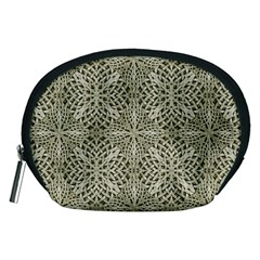 Silver Intricate Arabesque Pattern Accessory Pouch (Medium)