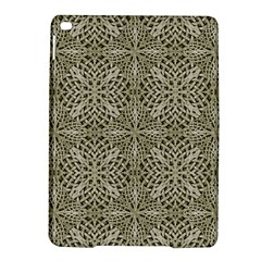 Silver Intricate Arabesque Pattern Apple Ipad Air 2 Hardshell Case