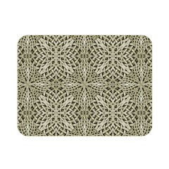 Silver Intricate Arabesque Pattern Double Sided Flano Blanket (Mini)