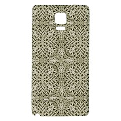 Silver Intricate Arabesque Pattern Samsung Note 4 Hardshell Back Case