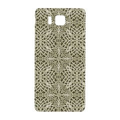 Silver Intricate Arabesque Pattern Samsung Galaxy Alpha Hardshell Back Case