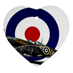 Spitfire And Roundel Heart Ornament