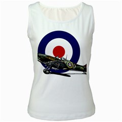 Spitfire And Roundel Women s Tank Top (white)