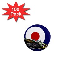 Spitfire And Roundel 1  Mini Button Magnet (100 Pack)