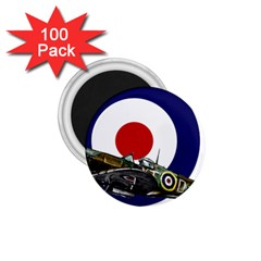 Spitfire And Roundel 1 75  Button Magnet (100 Pack)