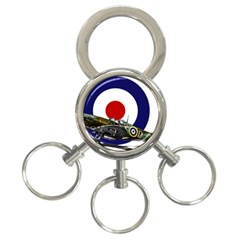 Spitfire And Roundel 3 Ring Key Chain