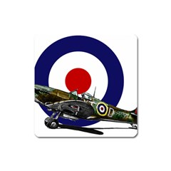 Spitfire And Roundel Magnet (square)