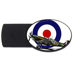 Spitfire And Roundel 2gb Usb Flash Drive (oval)