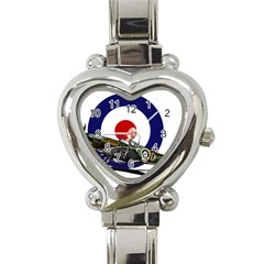 Spitfire And Roundel Heart Italian Charm Watch