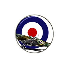 Spitfire And Roundel Golf Ball Marker (for Hat Clip)