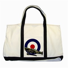 Spitfire And Roundel Two Toned Tote Bag
