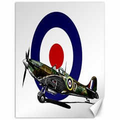 Spitfire And Roundel Canvas 18  X 24  (unframed)