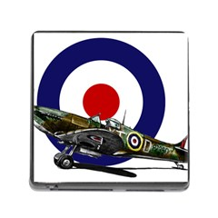 Spitfire And Roundel Memory Card Reader With Storage (square)